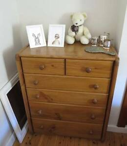 Wooden tallboy drawers Croydon Burwood Area Preview