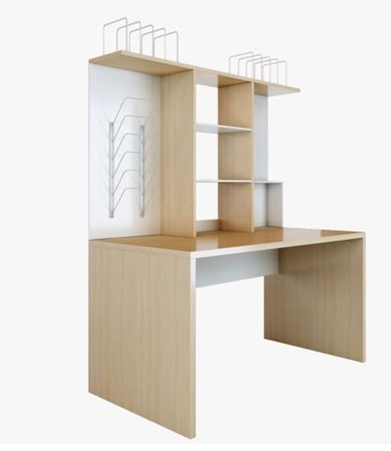 IKEA Mikael Large Desk With Top Unit, Magazine Racks And Separate Drawer  Unit   Excellent Nice Ideas