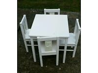 Ikea kritter table and 4 chairs