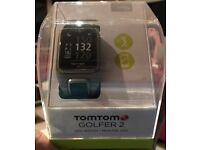 TOMTOM GOLFER 2 GPS WATCH - LIGHT GREY - LARGE- SEALED