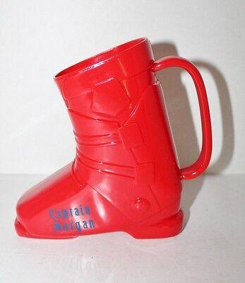 CAPTAIN MORGAN RED SKI BOOT ADVERTISING DRINKING CUP MUG