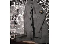 Mens XL Stone Island Grey Woolen Cardigan