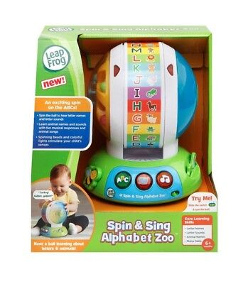Leap Frog Spin and Sing Alphabet Zoo Baby Toddler Educational Toy ABC - NEW