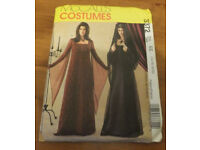 McCalls Sewing Pattern 3372 Gothic Mediaeval Costumes with Hat & Veil, Size 14, 16, 18 and 20.