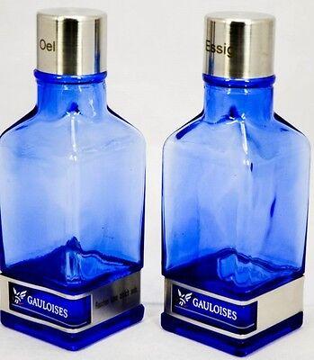 Gauloises Tabak Essig und Öl Set, Glasware, Edelstahlabsetzung