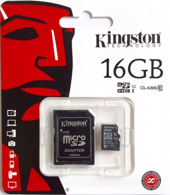 Genuine Kingston 16GB CLASS 10 Micro SD Card and Adaptor for Tesco Hudl 2 Tablet