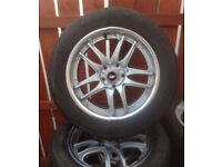 """Set of 4 Winter Tyres on 18"""" Chrome Alloys"""