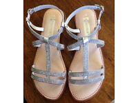 Rhinestone Embellished Gladiator Sandals