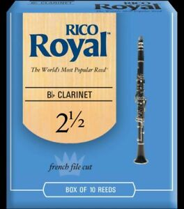 Box of 10 reeds for Bb clarinet, 7 left