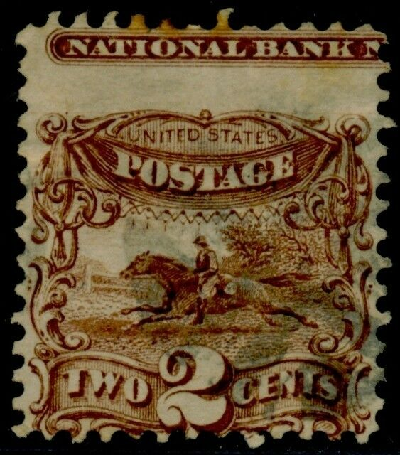 "#113 Var. 2¢ ""horse Rider"" W/ Full Impt Capture Major Error Rare On Issue Bq6844"