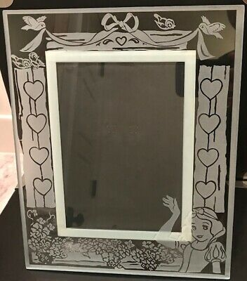 Disney Outlet Store Snow White Frosted Glass 9x11 5x7 insert Frame NEW NIB