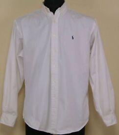 Men's Ralph Lauren white oxford shirt
