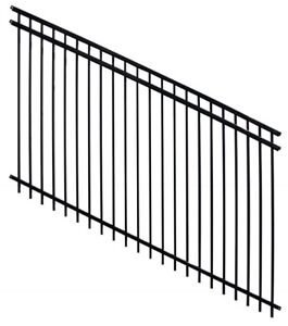 Grade-able Horizon Ornamental Iron Fencing