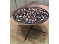 Lovely round mosaic coffee table/side table