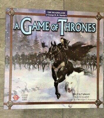 $🔽 UNPLAYED NIB A Game of Thrones Board Game 1st Ed 2003 COMPLETE unpunched (Game Of Thrones Board Game 1st Edition)