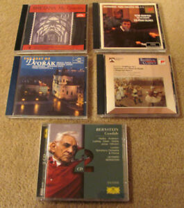 5 classical musical cds in MINT condition