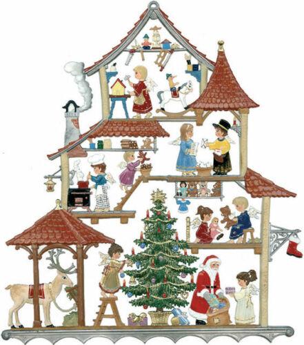 "WILHELM SCHWEIZER GERMAN ZINNFIGUREN Christmas Workshop (6.75 x 8"")"