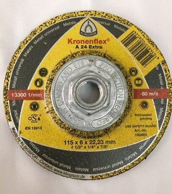 Klingspor Kronenflex A24 Extra T Grinding Disc For All Metals 4-12