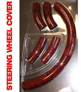 Jeep Grand Cherokee 99 Red Wood Pattern Steering Wheel