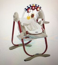 Chicco Polly Magic Newborn Highchair - Pois in Excellent condition (retail price£125)