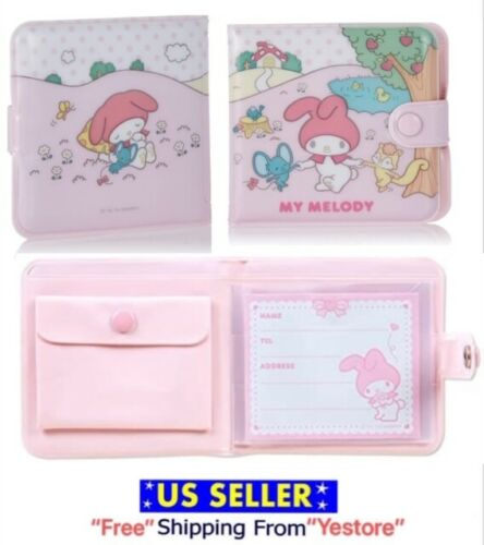 JAPAN SANRIO My Melody Rabbit Flat kun vinyl wallet Pink Purse Kawaii Cute Retro