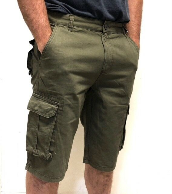 Men's Long Cargo Shorts Clothing, Shoes & Accessories