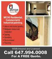 Residential, Commercial & Industrial painting. Call 647.994.0008