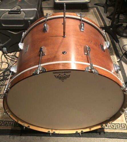 "Koenig Custom Tambora Bass Drum 26"" X 18"" Natural Walnut Finish"