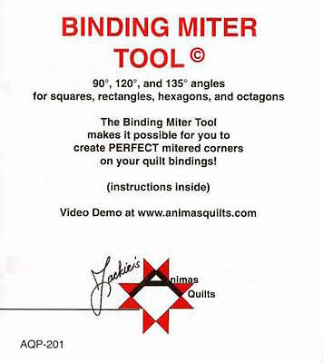 Binding Miter Tool (Acrylic), Sewing, Crafting, DIY, Animas Quilts Ruler