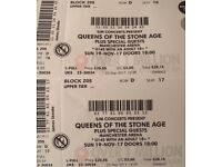 2 x Queens Of The Stone Age Tickets for Manchester Arena 19 Nov