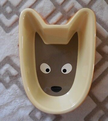 DonDon Dog Food Ceramic Bowl - New