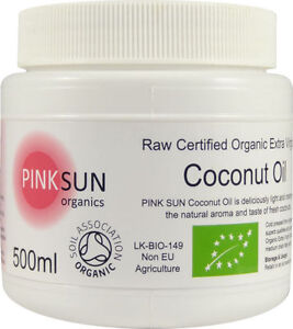 Pure Organic Extra Virgin Coconut Oil 500ml Raw Cold Pressed Unrefined Butter
