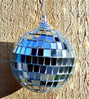 One DISCO BALL ~ 2.5 inch Party Decoration with Mirrors ~ Christmas Ornament