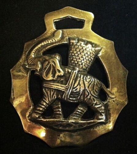 Lovely Large ELEPHANT Horse Harness Brass (E4) England Elephant Collectible