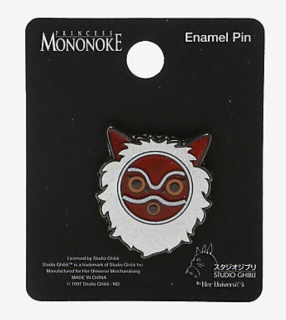 Studio Ghibli Loungefly Princess Mononoke Glitter Mask Metal Enamel Pin