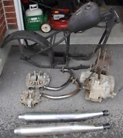 Various Yamaha XS650 parts from 1971 to 1983