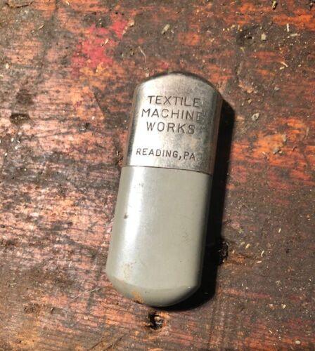 Antique Vintage Textile Machine Works Vest Pocket Needle Holder Case