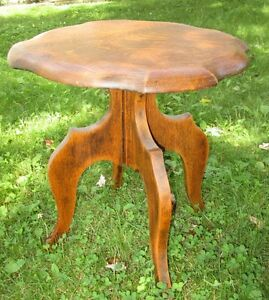 Antique quarter cut oak small table