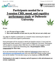 Participants needed for a 3-sessoin CBD study