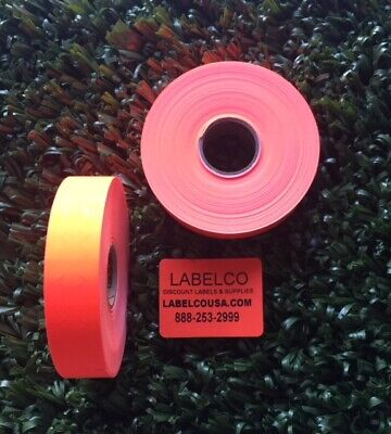 Monarch 1130 Fluorescent Red Labels 2 Rolls 5000 Labels Made By Monarch