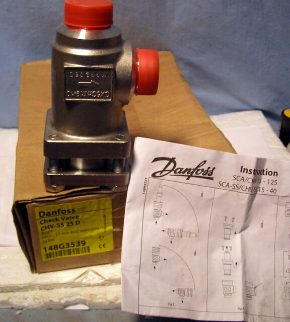 ** DANFOSS - CHECK VALVE - CHV-SS 25D -- NEW, OLD STOCK **