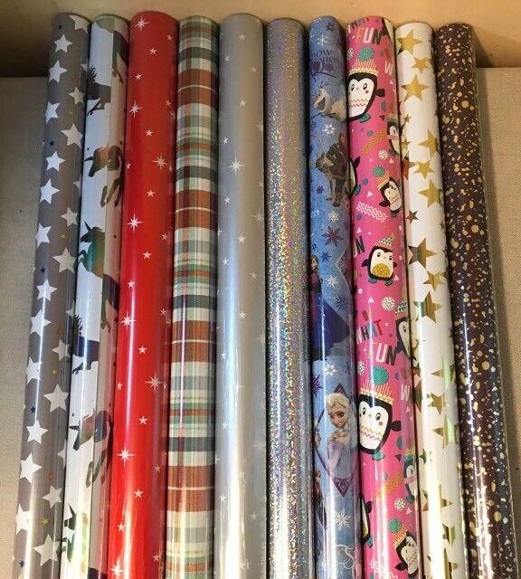 4 - 40 METRES WRAPPING PAPER GIFT WRAP CHRISTMAS BIRTHDAY RO