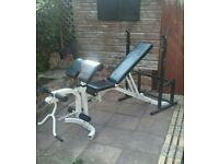 Workout Bench with Adjustable Barbell Rack