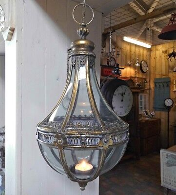 Antik Stil Laterne (GROSSE HÄNGE LATERNE ORIENT ANTIK NOSTALGIE STIL METALL HÄNGELATERNE LAMPE NEU)