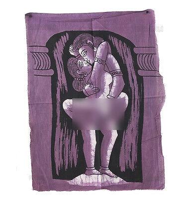 Batik Hanging Erotic Position of Kamasutra 50x 40 cm India Peterandclo K171