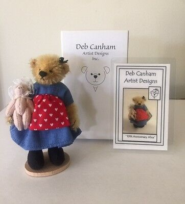 """DEB CANHAM  """"ALICE WITH PIG BABY"""" FROM ALICE IN WONDERLAND - MOHAIR 3 3/4"""""""