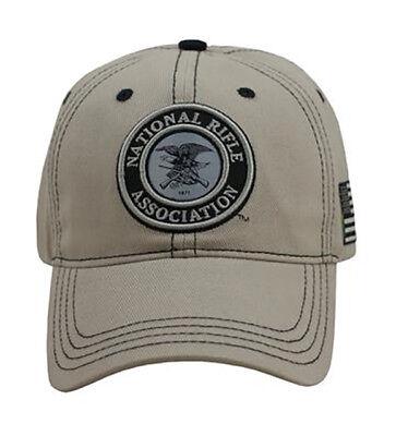 525a6752b2b67 NRA National Rifle Association  TAN  CIRCLE LOGO TWILL HAT CAP NEW NR16