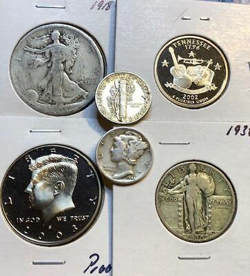 Silver Gift Bag (Grab Bag * 20 US Coins w/Silver, BU & Proof Included * Estate Sale * Great)
