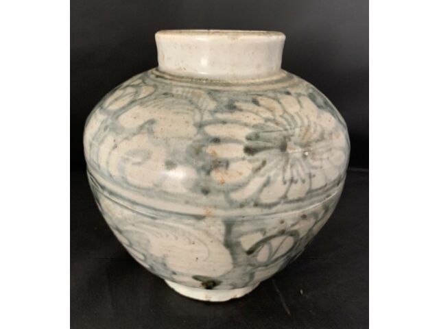 Ming Porcelain jar with certified wax export seal of approval