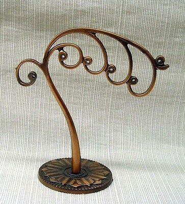 Jewelry Bracelet Earring Display Counter Or Nightstand Antique Copper Finish